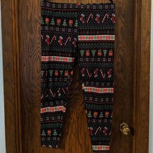 Christmas/Holiday Ugly Sweater Fleece Leggings